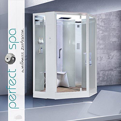 dampfdusche monza wei dampf dusche duschkabine dampfbad duschtempel duschkabinett m bel24. Black Bedroom Furniture Sets. Home Design Ideas