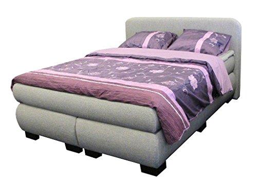dreams4home boxspringbett 39 sleepy 39 grau 90 100 140 120 160 180 200x200cm hotelbett. Black Bedroom Furniture Sets. Home Design Ideas