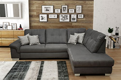 Dreams4home wohnlandschaft 39 jonah 39 sofa couch sofaecke for Sofaecke mit bettfunktion