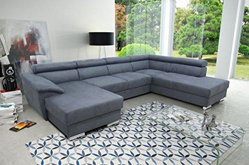 Dreams4home wohnlandschaft 39 moe i 39 sofa couch sofaecke for Wohnlandschaft microfaser mit bettfunktion
