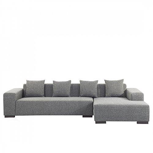 ecksofa polsterbezug dunkelgrau linksseitig lungo 0 m bel24. Black Bedroom Furniture Sets. Home Design Ideas