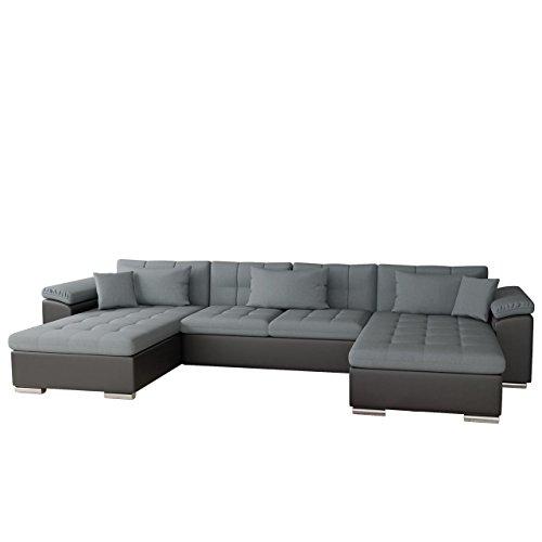 Ecksofa Wicenza Bris! Elegante Big Sofa mit Schlaffunktion Bettfunktion! Technologie Cleanaboo®, Schwerentflammbar, Wohnlandschaft! U-Form, Eckcouch Couch!
