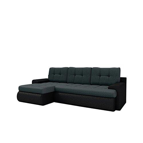 Elegante Ecksofa Kos SALE, Ausverkauf, Eckcouch mit Schlaffunktion und Bettkasten,, Couchgarnitur, Microfaser Schlafsofa vom Hersteller, Schlafcouch Bettfunktion