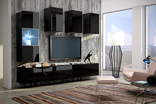 Future 4 moderne wohnwand exklusive mediam bel tv for Exklusive wohnwand