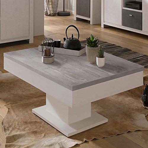 Granny Couchtisch 0636/CT-80x80 weiss matt/beton