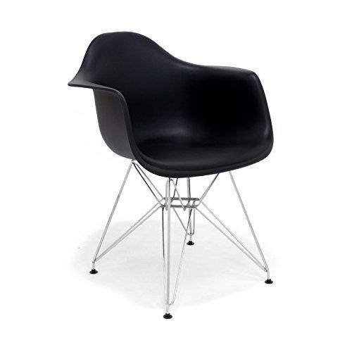 Hochwertige Tower replica Eames Stuhl, Polypropylen und Stahl