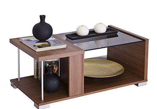 Intradisa 2036 - Couchtisch im modernen Design, 38 x 92 x 50 cm, wengefarben