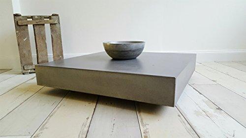 Massiver Beton Couchtisch Schwebend und Rollbar B&K Design Wohnzimmertisch / Beistelltisch / Sofatisch / Betonmöbel / Betontisch aus echtem Beton !
