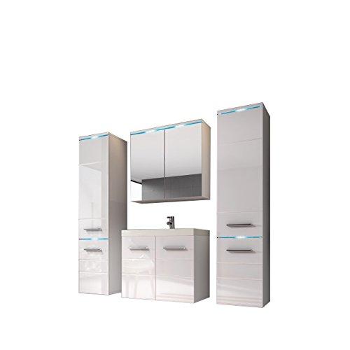 Modernes Badmöbel Set Savona II Mit Waschbecken Und Siphon