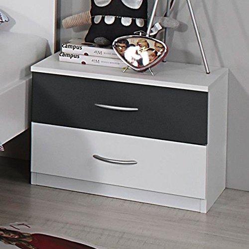 nachtkommode wei grau nachttisch nachtkonsole nachtk stchen nako abladetisch kinderzimmer. Black Bedroom Furniture Sets. Home Design Ideas