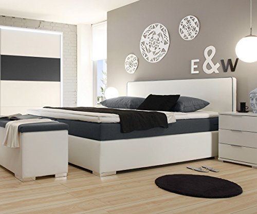 polsterbett norwich weiss 180x200 mit matratze topper boxspringbett m bel24. Black Bedroom Furniture Sets. Home Design Ideas