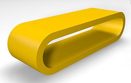 Retro-Stil Design-Reifen Großen Gelben Matt Couchtisch / TV-Ständer 110 cm Breite