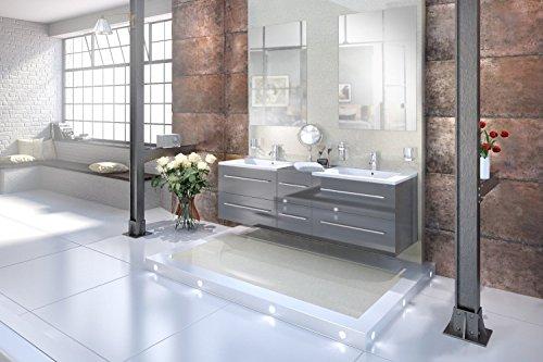 SAM® Badmöbel-Set Barcelona, 150 cm, Designer-Badset mit Softclosefunktion, wahlweise als 3-, 4-, 5- oder 6-teiliges Badmöbelset in 5 verschiedenen Farben mit Einzelspiegel oder Spiegelschrank