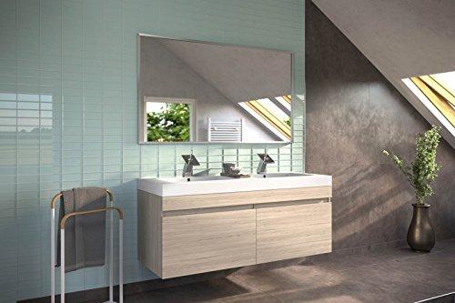 SAM® Badmöbel-Set Parma, 140 cm, Designer-Badset mit Softclose-Funktion, wahlweise als 2-, 3-, 4- oder 5-teiliges Badmöbelset in 5 verschiedenen Farben mit Spiegel oder Spiegelschrank