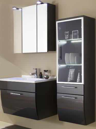 sam design badm bel set santana 3tlg mit glast r anthrazit mit beckenauswahl m gliche. Black Bedroom Furniture Sets. Home Design Ideas