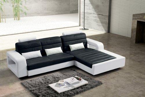 SAM® Design Ecksofa New York in schwarz & weiß, bequeme Polsterung, pflegeleicht, futuristisches Design
