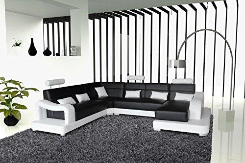 SAM® Ecksofa Ariola schwarz weiß 243 x 392 x 181 cm links