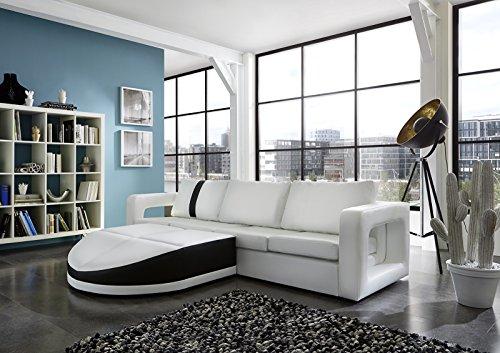 Sam sofa garnitur wei doccia schwarzer streifen 200 x for Wohnlandschaft 270 cm