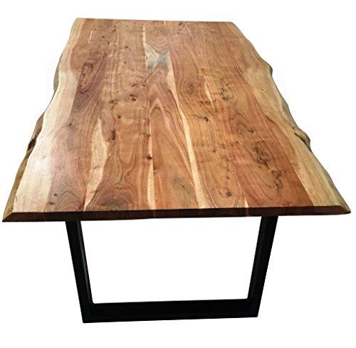 sam stilvoller esszimmertisch imker aus akazie holz tisch mit lackierten beinen aus roheisen. Black Bedroom Furniture Sets. Home Design Ideas
