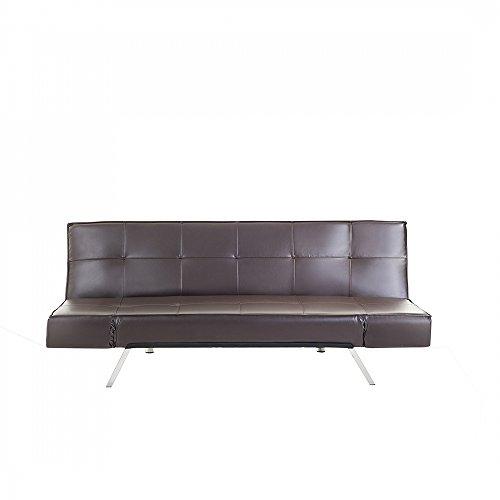 schlafsofa kunstleder braun bristol m bel24. Black Bedroom Furniture Sets. Home Design Ideas
