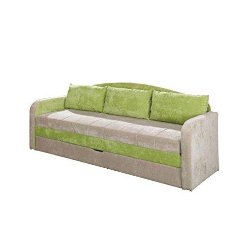 Schlafsofa Tenus, Sofa Couch mit Bettkasten und Schlaffunktion, Bettsofa Schlafcouch, Gästebett Schlafzimmer