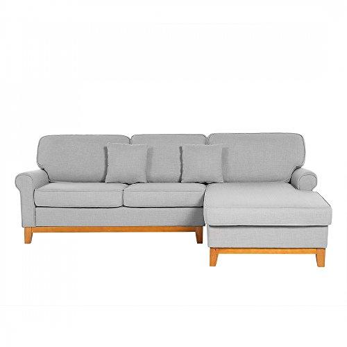 Sofa hellgrau couch ecksofa wohnlandschaft for Wohnlandschaft hellgrau