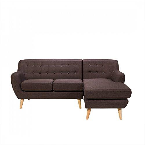 Sofa Schokolade - Couch - Ecksofa - Eckcouch - Polsterecke - MOTALA