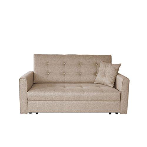 Sofa Viva Lux III mit Schlaffunktion, 3 Sitzer Polstersofa mit Bettkasten inkl. Kissen, Sofagarnitur, Schlafsofa Bettsofa Farbauswahl, Wohnlandschaft