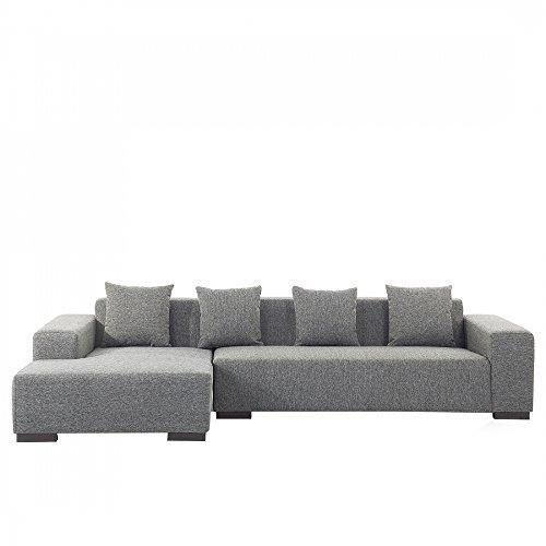 Sofa dunkelgrau - Couch - Ecksofa R - Sofalandschaft - Sofagarnitur - Stoffsofa - LUNGO