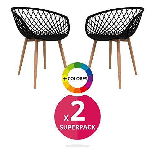 Stuhl Bettbezug (Pack 2)–Stuhl Stuhl Scandi Nordic Skandinavien inspiriert Sessel Eames–Saga–(wählen Sie Ihre Farbe)