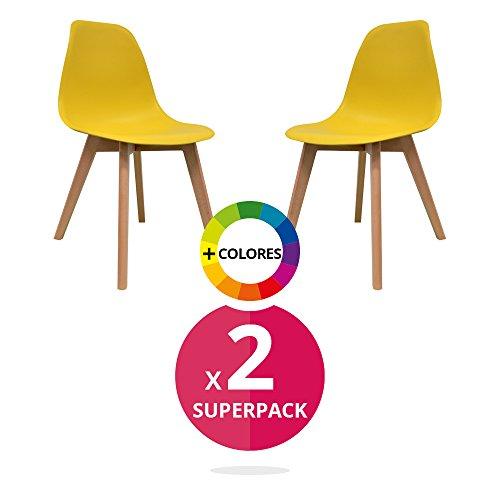 Stuhl Nordica (Pack 2). Skandinavische Stuhl Tower. Stuhl inspiriert Sessel Eames DSW-(wählen Sie Ihre Farbe)