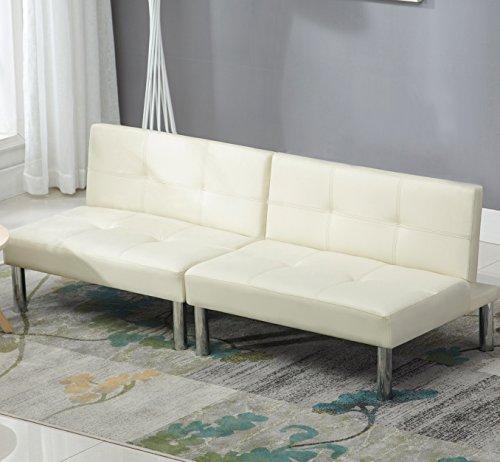 UEnjoy 220 x 140 Schlafsofa Leder Schlafcouch Luxuriös Sofabett 3 Sitzer Sofa