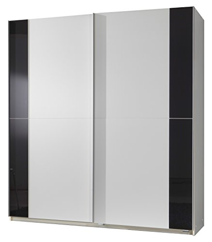 wimex 076770 schwebet renschrank 135 x 198 x 64 cm front und korpus alpinwei absetzungen glas. Black Bedroom Furniture Sets. Home Design Ideas