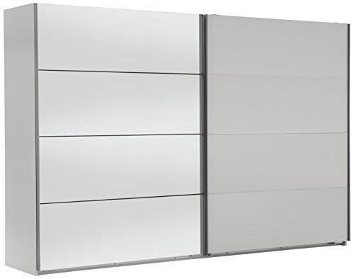 Wimex 507061 Schwebetürenschrank, 313 x 210 x 65 cm, alpinweiß / spiegel