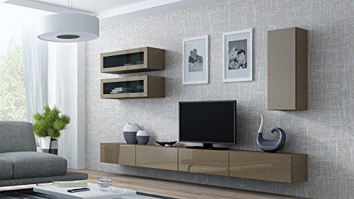 Wohnwand VIGO 11, Anbauwand, Wohnzimmer Möbel, Hochglanz !!! LED Beleuchtung !!!