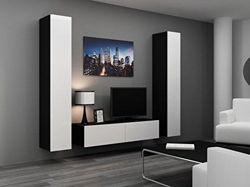 wohnwand vigo 9 anbauwand wohnzimmer m bel hochglanz. Black Bedroom Furniture Sets. Home Design Ideas
