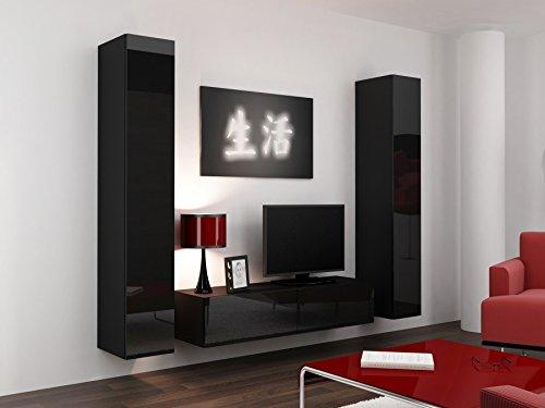 Wohnwand VIGO 9, Anbauwand, Wohnzimmer Möbel, Hochglanz !!!