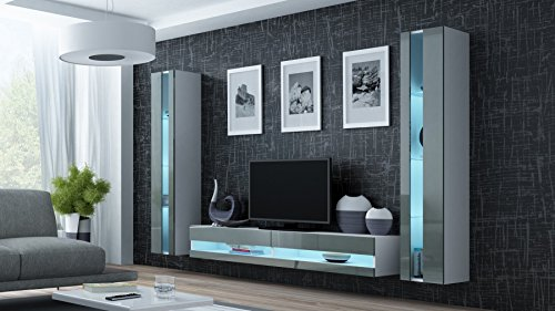 wohnwand vigo new3 anbauwand wohnzimmer m bel hochglanz mit led beleuchtung m bel24. Black Bedroom Furniture Sets. Home Design Ideas
