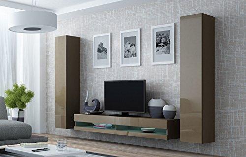 Wohnwand vigo new4 anbauwand wohnzimmer m bel hochglanz for Wohnwand vigo