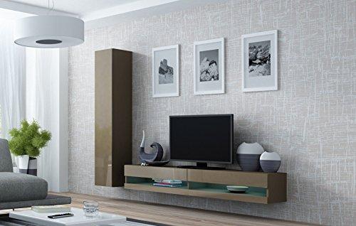 Wohnwand VIGO NEW9, Anbauwand, Wohnzimmer Möbel, Hochglanz !!! Mit LED Beleuchtung !!!