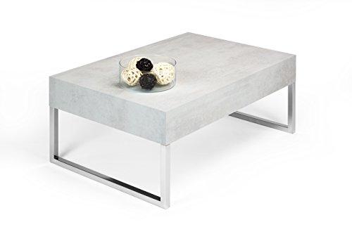 mobilifiver Evo XL Couchtisch, Holz, Beton, 90x 60x 40cm
