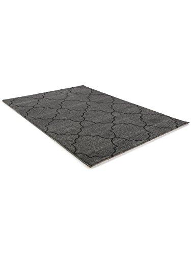 benuta teppich justin grau 160x230 cm moderner teppich f r wohn und schlafzimmer m bel24. Black Bedroom Furniture Sets. Home Design Ideas