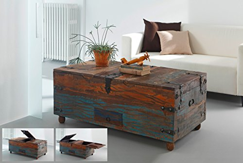 salesfever holz truhe couchtisch holztisch aus. Black Bedroom Furniture Sets. Home Design Ideas