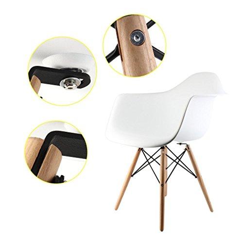 Esszimmerstühle Mit Lehne 2 x esszimmerstühle mit armlehne ajie retro designerstuhl mit lehne 4 holz beinen design