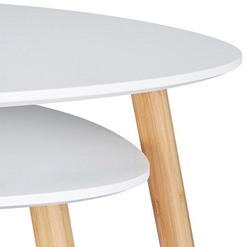 Relaxdays satztisch 2er set platzsparende beistelltische for Tisch nordisches design