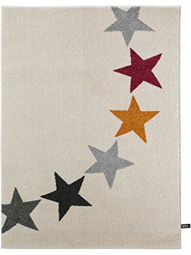 benuta Teppich Avalon Stars Beige 160x230 cm | Moderner Teppich für Wohn- und Schlafzimmer