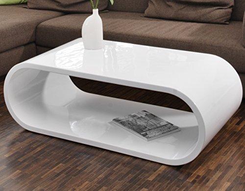couch tisch wei hochglanz 120x60cm aus mdf oval nofin schlichter lounge tisch im retro look. Black Bedroom Furniture Sets. Home Design Ideas