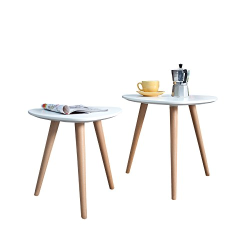 2er set beistelltische scandinavia meisterst ck retro. Black Bedroom Furniture Sets. Home Design Ideas