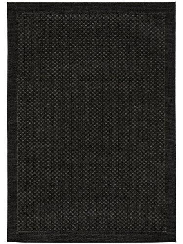 benuta In- & Outdoor Teppich Naoto Schwarz 80x150 cm | Pflegeleichter Teppich geeignet für Innen- und Außenbreich, Balkon und Terrasse