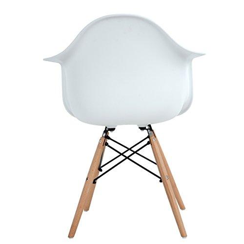 lot von 4 esszimmerstuhl ajie retro stuhl beistelltisch mit solide buchenholz bein wei. Black Bedroom Furniture Sets. Home Design Ideas